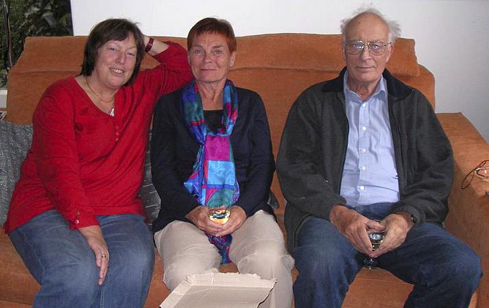 Bij Diederik thuis, 2008, L: Yolanda Kraaijpoel, M: Gezien van de Riet, R: Diederik Kraaijpoel