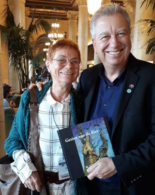 Eric Rhoads with me and my book