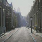 Huysman. Street in Utrecht i