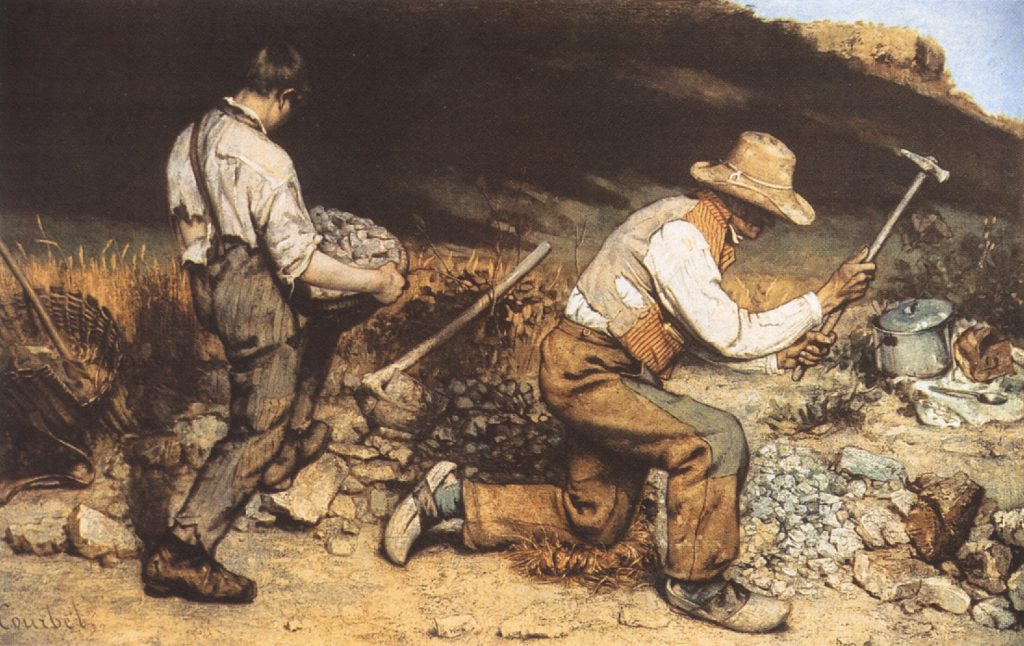Courbet The Stone Breakers realism