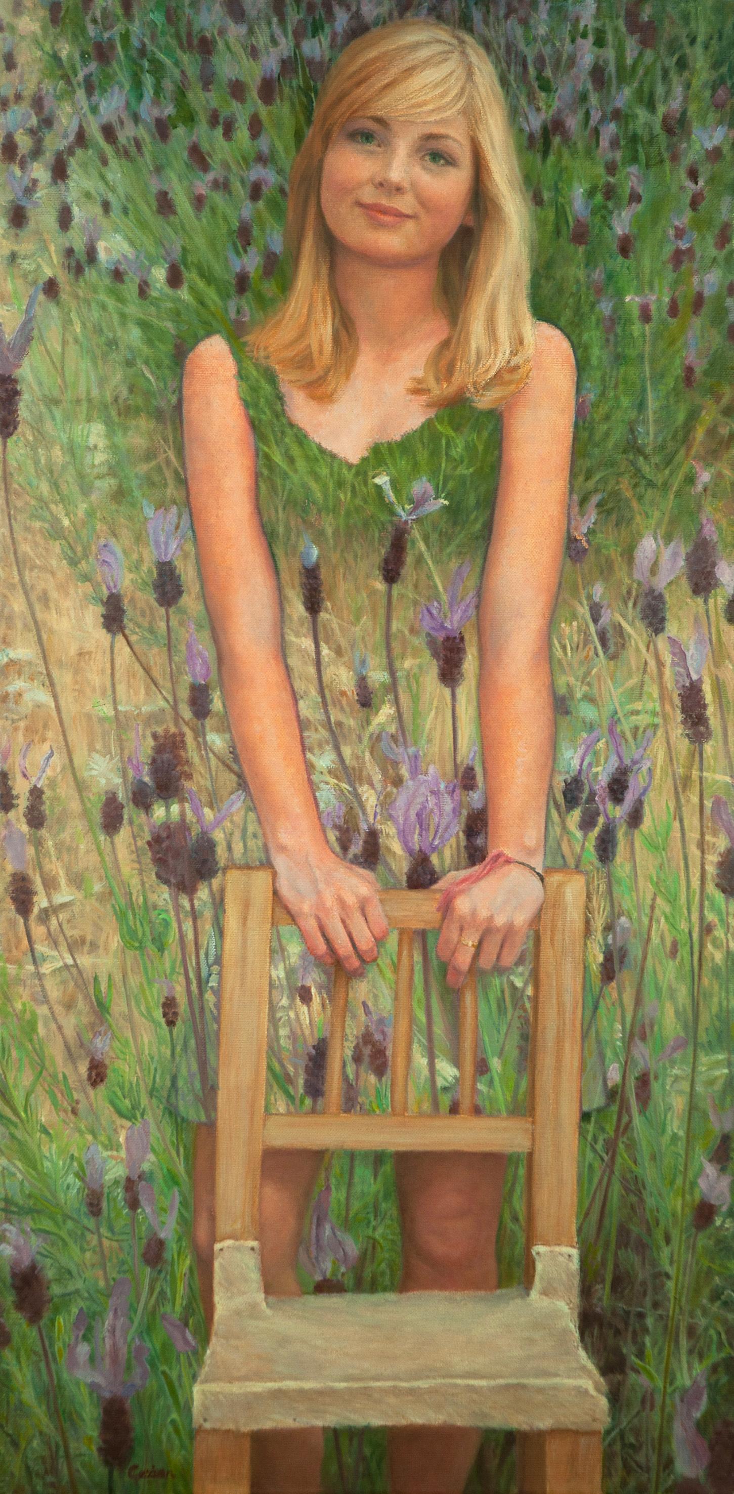 Portret van Tessa Tempera-olie