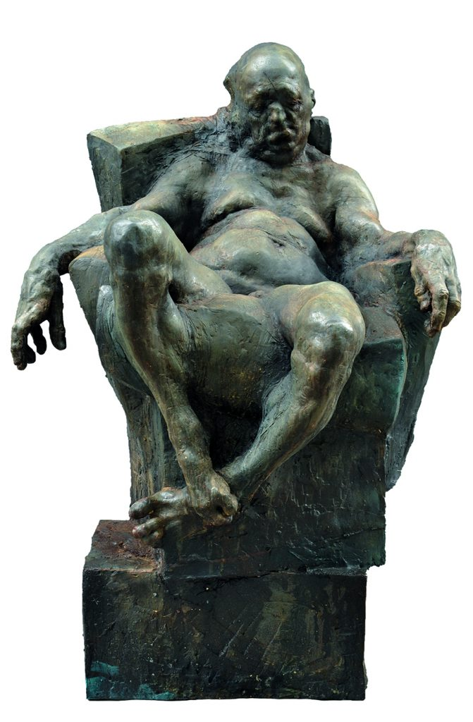 Grzgorz Gwiazda Sitting man Resin MEAM