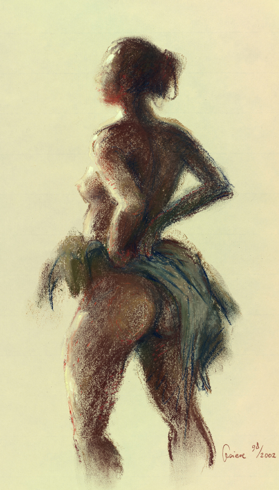 Liliane – pastel op papier – 31x23cm
