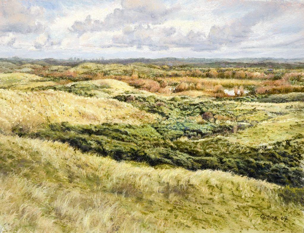 Duinen Kennemerland - waterverf en pastel op papier - 32x42cm