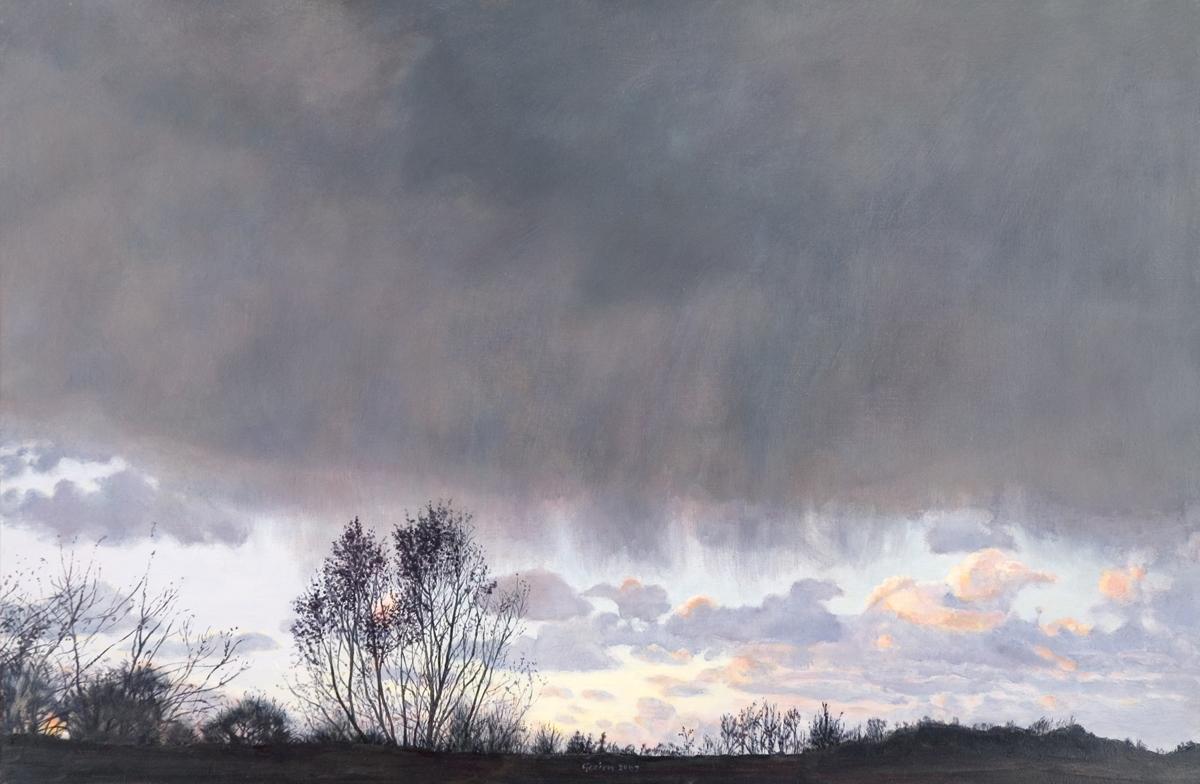 geschilderde novemberwolk