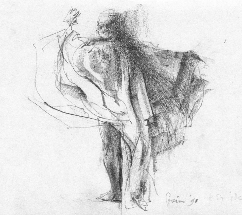 Danser - potlood op papier - 21x14cm