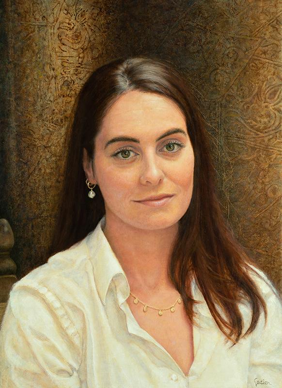 Geschilderd portret van Jonna door GezienvandeRiet