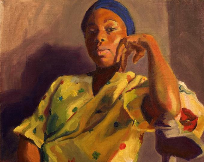 Bertrand Desmaricaux schilderde Ange