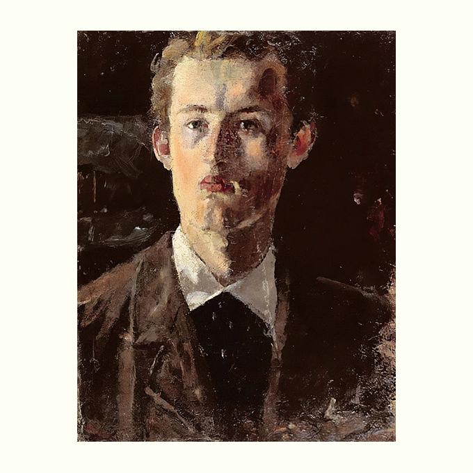 Edvard Munch, Self portrait, 1882.