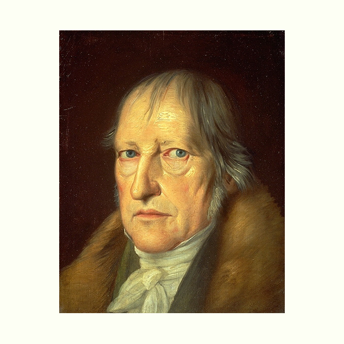 portret van Hegel