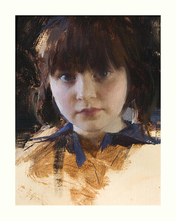 Jeremy Lipking painted Skylar at 5